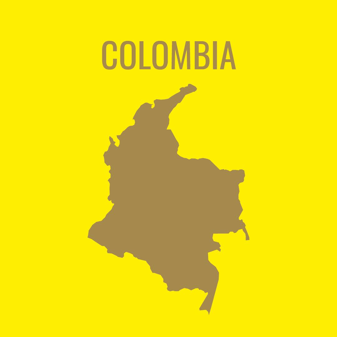 Silueta del mapa de Colombia