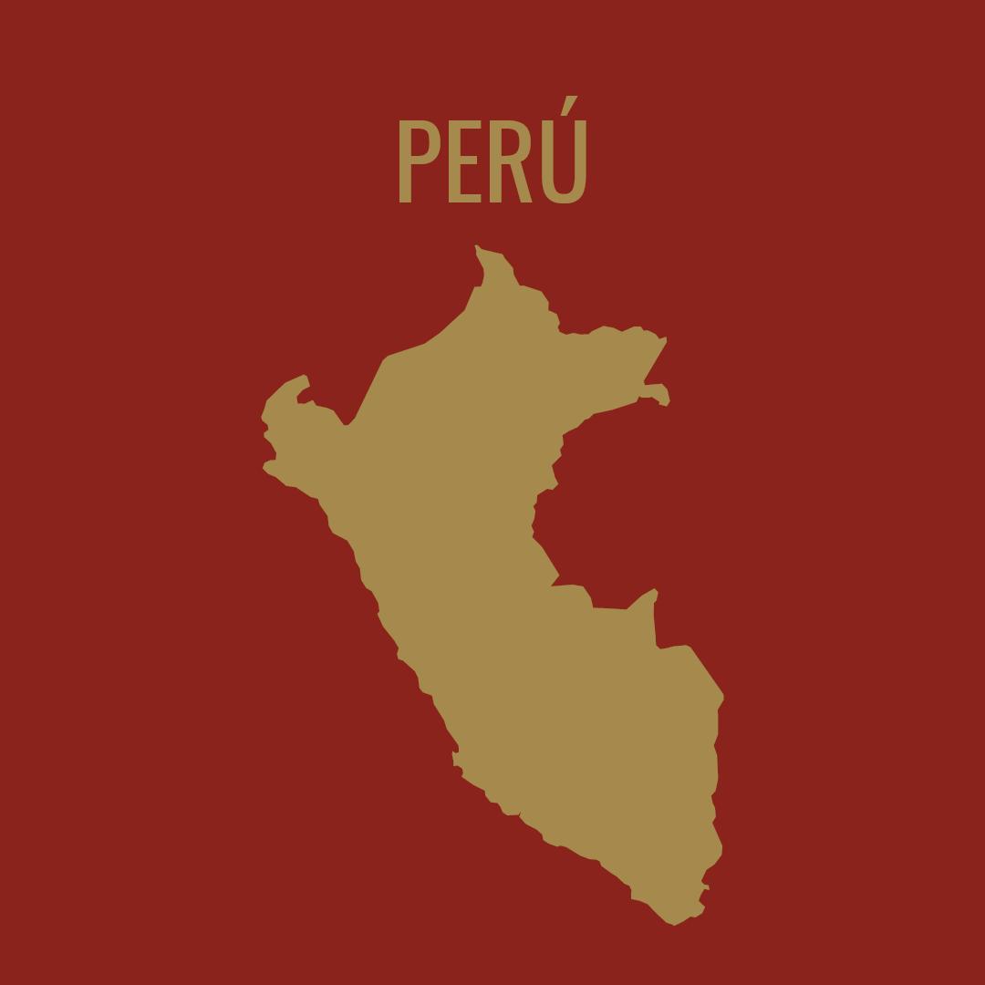 Silueta del mapa de Perú
