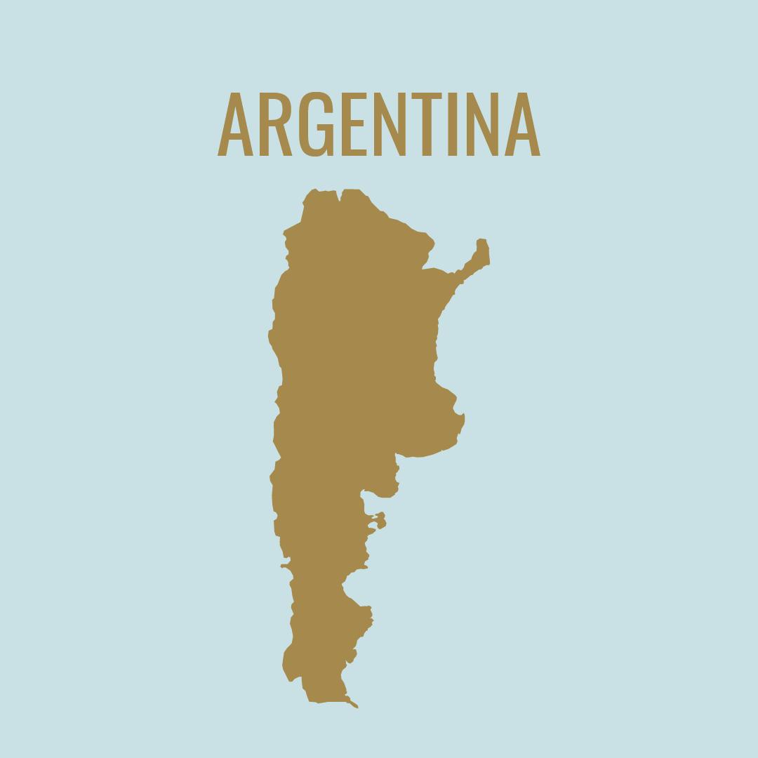 Silueta del mapa de Argentina